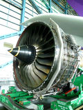 Turbo Fan Engine Of The Air Plane In Hangar Stock Photography