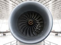 Turbo-Fan Jet Engine lizenzfreie stockfotografie