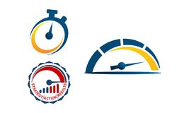 Turbo Fast Time Template Set. Vector Stock Photo