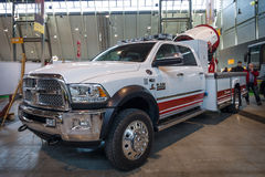 Turbo fire extinguisher Magirus AirCore M25H on Dodge Ram 4500. Stock Photo