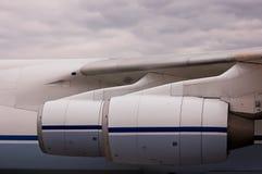 Turbo-jet aircraft engines Stock Photo