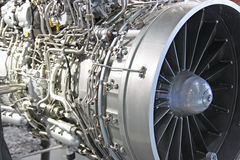 Turbo jet engine. Detailed exposure of a turbo jet engine. Small depth of sharpness Royalty Free Stock Photography