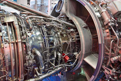 Turbo jet engine Stock Images