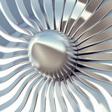 Turbo jet engine blades close-up. 3d illustration Stock Images