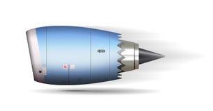 Turbo jet engine concept. Airplane part Stock Image
