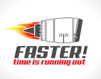 Turbo jet engine concept. Faster - turbo jet engine concept - time is running out Stock Image