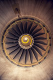 Turbo-jet engine of the plane Stock Photo