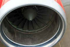 Turbo-jet engine of the plane close up Royalty Free Stock Images