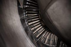 Turbo-jet engine of the plane. Turbo-jet engine of the plane, close-up Royalty Free Stock Photos