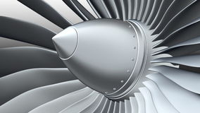 Turbo jet engine stock video footage