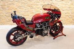 Turbo Kawasaki bieżny motocykl Fotografia Stock