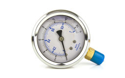 Turbo pressure gauge with white space Stock Photography