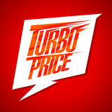 Turbo price sale design with speech bubble Stock Image