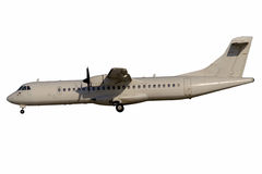 Turbo-prop airplane stock image