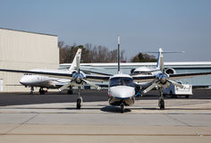 Turbo Prop and Jets Royalty Free Stock Photos