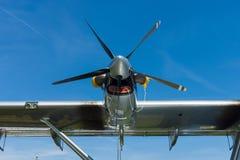 Turbo-Prop Pratt u. Whitney Canada PT6A-45, Nahaufnahme Flugboot Dornier tun amphibisch moderne Replik 24ATT lizenzfreie stockbilder