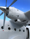 Turbo prop twin cargo aircraft Stock Photo