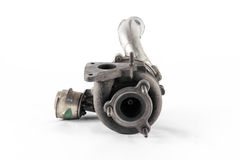 Turbo. The silver turbo of the combustion engine Royalty Free Stock Photography
