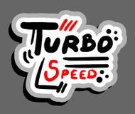 Turbo speed. Creative design of turbo speed Stock Images