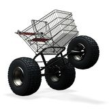 Turbo speed shopping cart Royalty Free Stock Photo