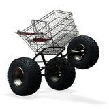 Turbo speed shopping cart. Tubo speed shopping cart isolated on white Royalty Free Stock Photo