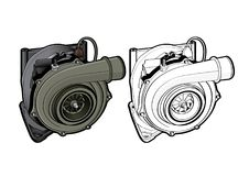 Turbo wyposażenia części rasy Samochodowa prędkość Fotografia Stock