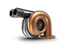 Turbocharger. Auto turbine concept. Stock Photos