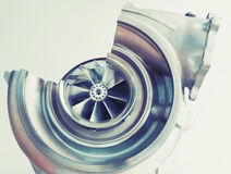 Turbocharger structure with cross section Stock Photography