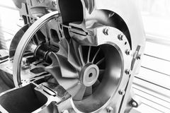 Turbocharger structure scheme Royalty Free Stock Photo