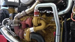 turbocompresor moderno en un motor diesel metrajes