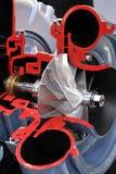 Turbocompressor royalty-vrije stock fotografie