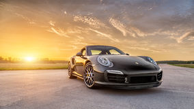 Turbocompressor 2015 de Porsche 911 S Fotos de Stock Royalty Free