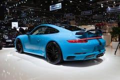 Turbocompressor de TechArt Porsche 911 imagens de stock royalty free
