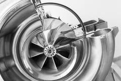 Turbocompressorstructuur met dwarsdoorsnede stock fotografie