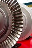 Turbofan. Industrial turbo fan on a stander Stock Photo