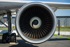 Turbofan engine of the aircraft for simulate of the effects zero gravity - Airbus A310 ZERO-G. Stock Image