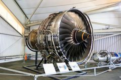 Turbofan engine royalty free stock photos