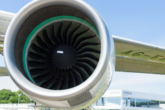 A turbofan engine Rolls-Royce Trent 900 the largest aircraft in the world - Airbus A380. Royalty Free Stock Images