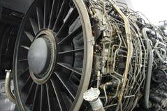 Turbofan jet engine. Under inspection Royalty Free Stock Photos