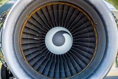 Turbofan jet engine Stock Photo