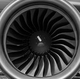 Turbofan jet engine Stock Image