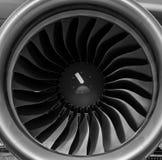 Turbofan jet engine stock image
