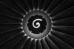 Turbofan jet engine Royalty Free Stock Photography