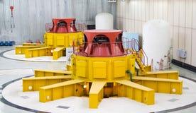 Turbogeneradores del agua Fotos de archivo libres de regalías