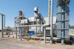Turbogeneratori su una stazione di pompaggio dell'olio Fotografia Stock Libera da Diritti