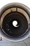 Turbojet of aircraft. At airport Royalty Free Stock Photo