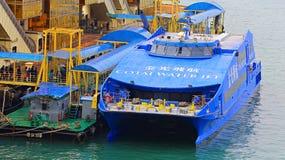 Turbojet at hong kong china ferry terminal Stock Images