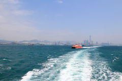 TurboJET provides services between Hong Kong and Macau Stock Photo