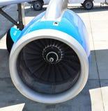 Turbojet's aeroengine. Close up of a turbojet's aeroengine Royalty Free Stock Images