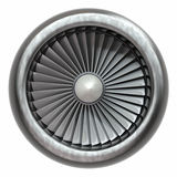 Turboladdarejetmotor royaltyfri illustrationer
